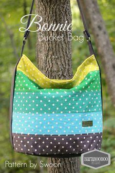 Bucket Bag in Japanese Linen Tote, Purse, Teal, Aqua, Citron, Emerald, Eggplant, dot, mochi, bonnie