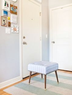 adorable ottoman makeover from Yellow Brick Home