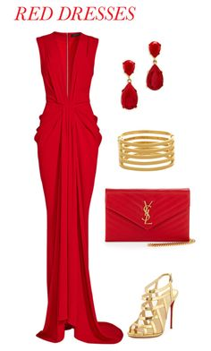"""Date Ready"" by magic-wand-styling ❤ liked on Polyvore featuring Thakoon, Kenneth Jay Lane, Yves Saint Laurent, Christian Louboutin, women's clothing, women, female, woman, misses and juniors"