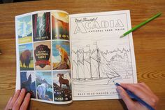 The United States National Parks system is turning 100 this month! What better way to celebrate than with this huge coloring book filled with pages of memories and road trip inspiration. Perfect for kids and adults - go get your color on!