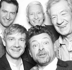 Hobbit cast..... and Anderson Cooper
