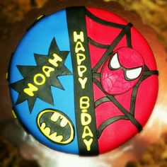 Batman/Spider-Man cake