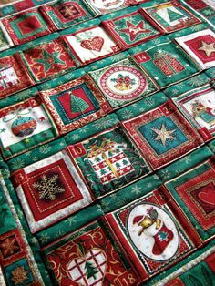 Advent Calendar Quilted Wall Hanging Heirloom by SallyManke, $52.00