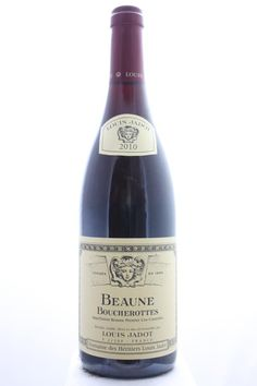 Louis Jadot (Domaine Des Héritiers Louis Jadot) Beaune Boucherottes 2010. France, Burgundy, Beaune, Premier Cru. EStimate (11/2016): 45 USD (1.096 CZK).