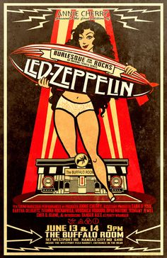 led zeppelin gig posters - Google Search