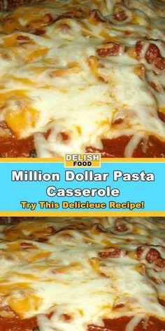 Million Dollar Pasta Casserole Recipe Pasta Casserole, Casserole Dishes, Casserole Recipes, Campbell's Tomato Soup Recipes, Pasta Recipes, Dinner Recipes, Ground Chuck Recipes Dinners, Cooker Recipes, Crockpot Recipes