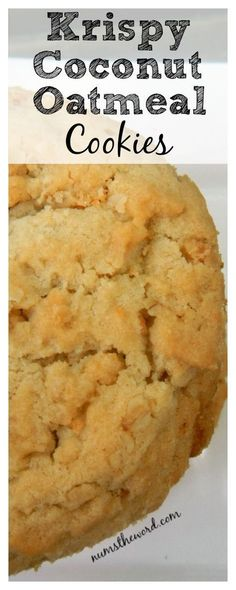 VIDEO Krispy Coconut Oatmeal Cookies have the consistency of a shortbread cookie crispy but chewy ! VIDEO Krispy Coconut Oatmeal Cookies have the consistency of a shortbread cookie crispy but chewy ! Crispy Cookies, Crinkle Cookies, Shortbread Cookies, Cookies Et Biscuits, Yummy Cookies, Oatmeal Coconut Cookies, Chocolate Chip Cookies, Chocolate Chips, Coconut Cookie Recipe