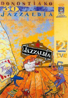 San Sebastian's Jazz Festival poster 1995