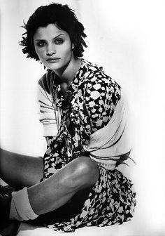 Helena Christensen by Peter Lindbergh for Harper's Bazaar US March 1993