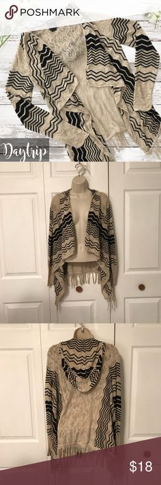 Daytrip Fringe Cardigan This has only been worn a few times. No damage. The fabric is comfortable and lightweight. Daytrip Tops