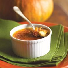 Pumpkin Crème Brûlée: a delicious autumnal dessert. It was perfect as a pumpkin pie alternative.