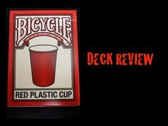 Bicycle Red Plastic Cup Deck Video Review