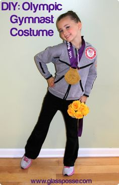diy olympic gymnast costume - Jacket, makeup and hair tutorial