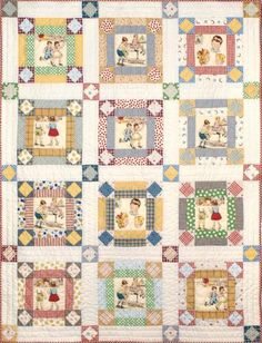 Story Time Remembered.  This is a good idea for using a pictorial print.  I used Dick and Jane fabric.