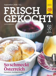 Frisch gekocht Magazin, Ausgabe September 2018 Billa, Hamburger, French Toast, Bread, Breakfast, September, Food, Cooking, Food Food