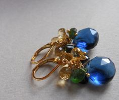 HUGE SALE 20% OFF ENDS TONIGHT AT 11 Day at the Met Kyanite blue Earrings by Sueanne Shirzay, $52.00