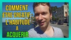 Comment être CRÉATIF : l'HABITUDE a acquérir : https://www.youtube.com/watch?v=xXZdO2I6SCs&index=2&list=PLlNaq4hbeacQso7BcO89UKoc9r0qh5kCL ;) #Créatif #Créativité #Habitude #Habitudes #Acquérir