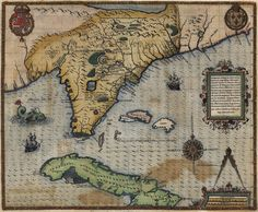 Map of Florida region. (1591)