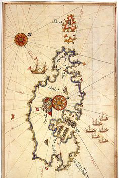 Map of Malta by Piri Reis
