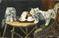Cats Having Tea 1914 Feb-27 Salem, Or
