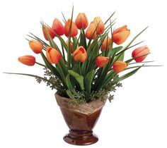 Tulip and Glass Bouquet