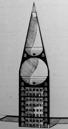 Aldo Rossi | Concurso para el Palacio de Congresos | Milán, Italia | 1984