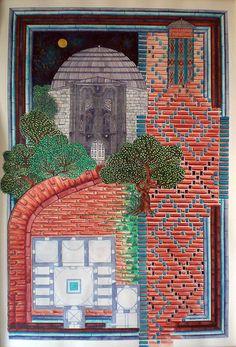 Konya İnce Minareli Medrese Mughal Paintings, Textile Texture, Japanese Prints, Islamic Art, Miniatures, Tropical, Presentation, Wallpapers, China