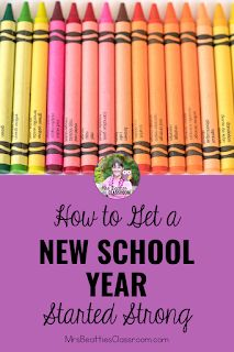Heading back to school to begin a new school year is a time to improve your past teaching practices and establish routines and expectations for your new students. This blog post includes resources, ideas, and freebies for getting your new school year started strong. New School Year, Back To School, Parent Open House, Curriculum, Homeschool, Teacher Organization, New Students, Classroom Management, Teaching Resources