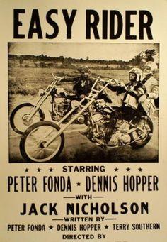 Easy Rider poster black-white