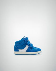 Retro-style high-top sneaker - Shoes - Baby boy (3-36 months) - Kids - ZARA