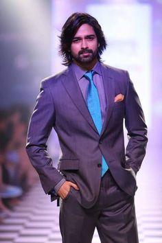 #longhair #indianmodel #beard #suit