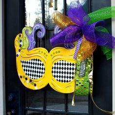 Mardi Gras Door Hanger Mardi Gras Decor Fat by LooLeighsCharm, $45.00