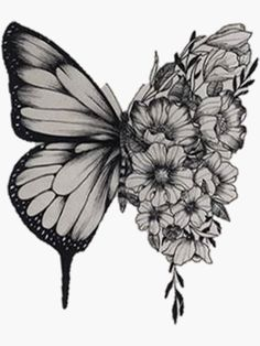 Butterfly Thigh Tattoo, Butterfly With Flowers Tattoo, Butterfly Tattoo Cover Up, Butterfly Tattoos For Women, Butterfly Tattoo Designs, Butterfly Tattoo Meaning, Flower Cover Up Tattoos, Cover Tattoos, Butterflies