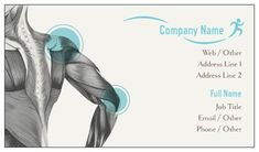 Illustration Gray Standard Business Cards, Sports Massage Standard Business Cards | Vistaprint