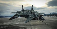 'Taurus' Hover-Jet Concept, Thiago Macedo / Macedo Designs on ArtStation at https://www.artstation.com/artwork/aDo9R