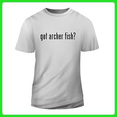 got archer fish? - New Short Sleeve Adult Men's T-Shirt, White, Medium - Animal shirts (*Amazon Partner-Link)