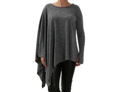 Lisa – jersey gris asimétrico de Freeshion de Freeshion por DaWanda.com