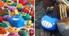 My Kids And I Spent A Year Painting Over 1,000 Rocks And Hid Them For People To Spot And Photograph | Bored Panda