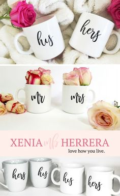 Our sweet mugs make a perfect gift for newlyweds, as a bridal shower gift, engagement party, or a precious anniversary gift for your significant other! Celebrate the joy of love with your perfect mug set to enjoy your favorite coffee or tea in with your love by your side! Boss Lady Gifts, Gifts For Boss, Gifts For Women, Coffee Mug Sets, Mugs Set, Newlywed Gifts, Bridal Shower Gifts, Blog Tips, Anniversary Gifts