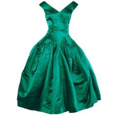 1950's Ceil Chapman Satin Dress. This dress is lovely.....