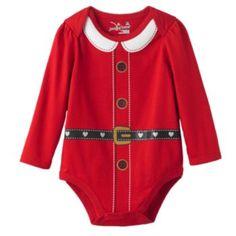 Jumping Beans Santa Bodysuit - Baby