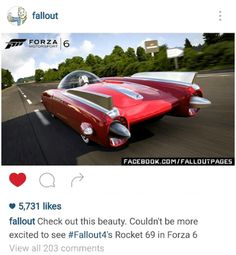 Check out Fallout 4s Rocket 69 in Forza 6!  forza 6 fallout 4 fallout fallout cars rocket 69