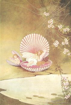 """FAIRIES RESTING IN CLAM SHELLS"" Artist: Ida Rentoul Outhwaite 1888 -1960"