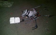 A drone packed with drugs crashed this week near the US border with Mexico, police in Tijuana announced Wednesday. As the Associated Press reports, the remote-controlled aircraft was packed with. Crystal Meth, Drug Cartel, Dji Drone, Us Border, Across The Border, Falling From The Sky, Technology World, Parking Lot, Federal