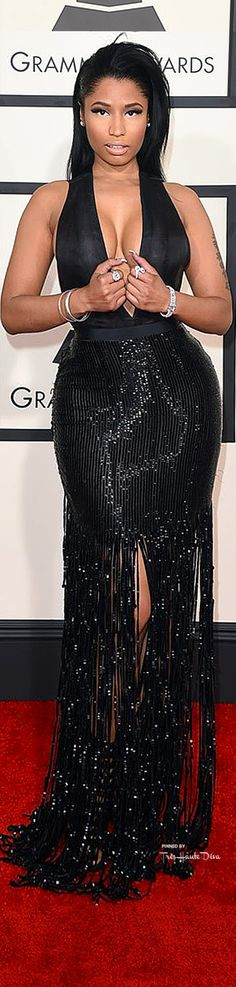 #Nicki #Menaj at the 57th Annual #Grammy Awards 2015 in Tom Ford ♔THD♔