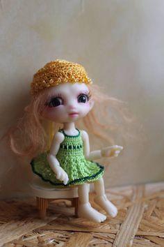 For Fidelia Fuuga Fidelina Isilme Firefly Faerie Green Silky