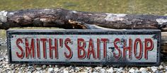 Personalized Bait Shop Lake House Sign  by TheLiztonSignShop, $39.00