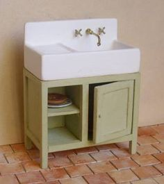 Dolls house tutorial kitchen sink