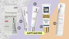 """1. Neutrogena Rapid Wrinkle Repair Serum: This drugstore anti-aging product was popular with the panel. """"Not only does it contain the anti-aging ingredient retinol, but it also contains dimethicone, which can provide an instant smoothing effect to the skin,"""" says Anthony Youn, M.D., a plastic surgeon. ($19, walmart.com) 2. La Roche-Posay Redermic [R] Anti-Aging Concentrate Intensive: Dr. Schlessinger recommends this product for antiaging beginners. """"This treatment contains 0.1 percent pure…"""