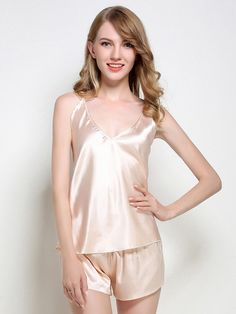 ROMWE offers Satin Cami Pj Set   more to fit your fashionable needs. 122b3dd28